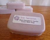 Raspberry Vanilla Goats Milk Soap