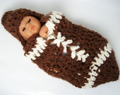 MADE TO ORDER -  Rookie Of The Year - Set of 2 - Newborn Baby Cocoon Pod and Hat - Photography Prop