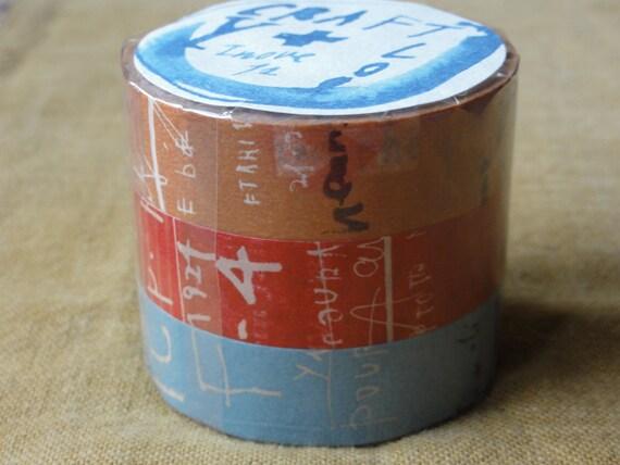 washi tapes / masking tapes - set of 3 - Graffiti - 15m long