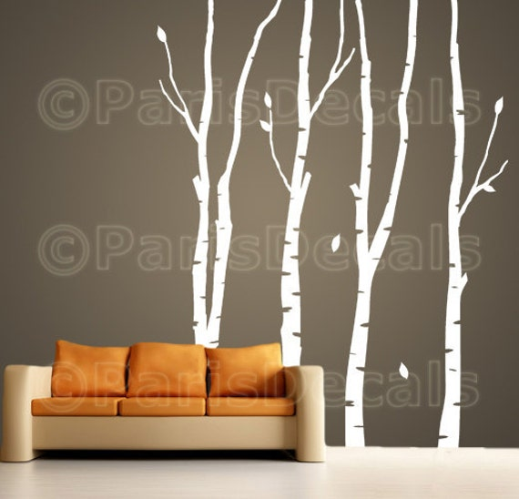 BIRCH TREES Vinyl Wall Decal Sticker Nature SelfAdhesive - Vinyl wall decals birch tree