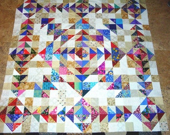 WHEEL of FORTUNE Quilt Top