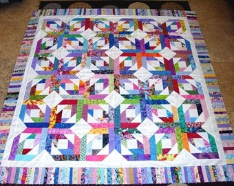 GORGEOUS PINEAPPLE BLOSSOM Quilt Top