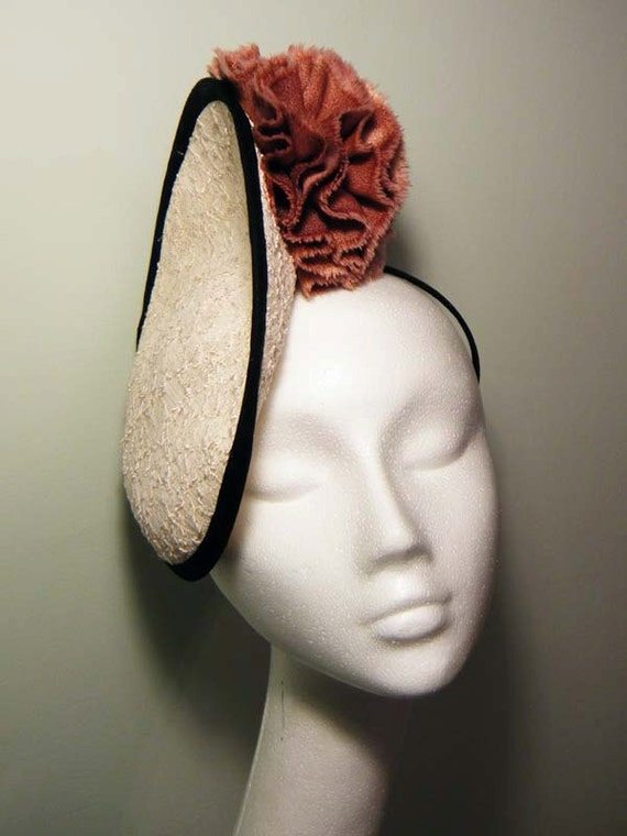 Lace Saucer Fascinator Hat - Royal Wedding Inspired - One of a Kind
