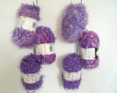 Purple and Lilac  mix Knitting and Crochet Wool 6 balls