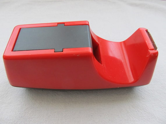 RETRO Mid-Century Modern Red Tape Dispenser 1950s WAY COOL
