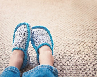 Men\'s House Slippers Crochet Pattern in 5 sizes No. 5