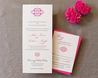 Classic Wedding Invitation Set, Scroll Wedding Invitation, Romantic, Vintage wedding, Printed or DIY Printable