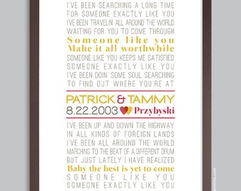 First Dance Lyrics Poster, Wedding Song, Personalized Wedding Print (custom song lyric art) Anniversary Gift