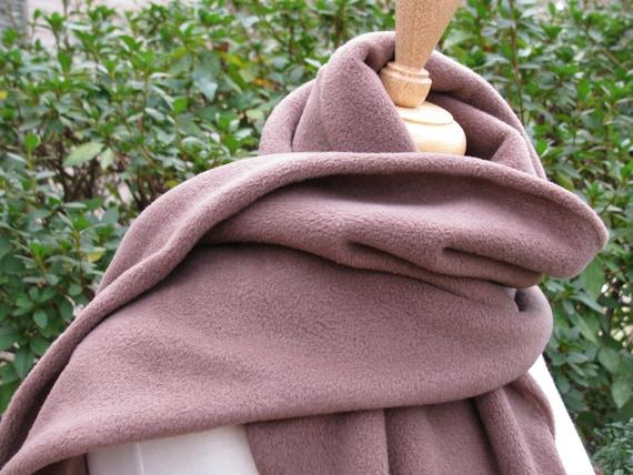 Brown Fleece Scarf