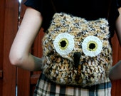 Wise Owl Medium Crochet Backpack