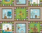 RESERVED LISTING: Hooty Hoot Panel by Doohikey Designs for Riley Blake - Cream