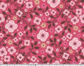 Wanna be a Cowboy FLANNEL by Riley Blake - Pink Floral Calico