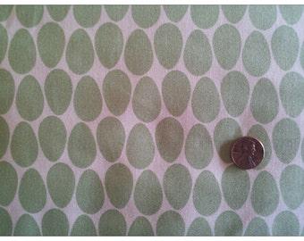 Pear Tree by Thomas Knauer for Andover Fabrics, Nest Egg, Green Eggs on Cream