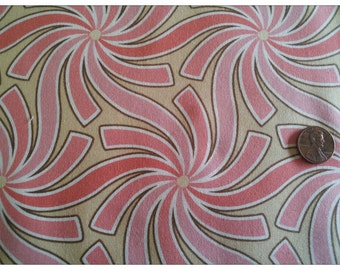 SALE!  Pear Tree by Thomas Knauer for Andover Fabrics, Swirls with Pink on Cream.