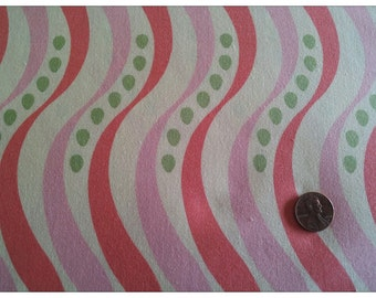Pear Tree by Thomas Knauer for Andover Fabrics, Stripe with Pink on Cream