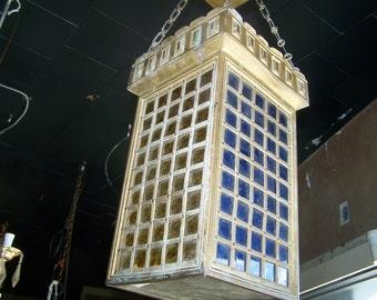 beautiful moroccan lantern style chandelier,stained glass light fixture,mashrabiya lighiting,free shipping