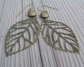Falling Leaves Filigree and Bronze Dangle Earring Gifts Under 25