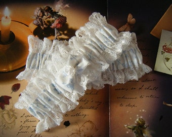 Cottage Chic  Wedding Garter Set