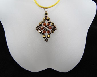 Dorado AB2X Swarovski Crystals and Amber Gemstones