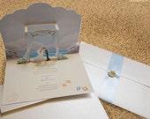 Pop-Up Card for a Beach, Seaside or Destination Wedding