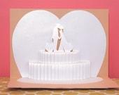 Wedding Cake Pop-up card
