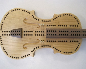 Violin Cribbage Board
