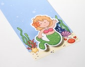 10 Wigglers Mermaid Invitations with White Envelopes--Free Shipping