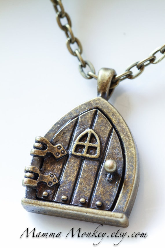 Antique Bronze Toned Fairy Door Locket