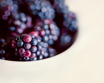 "Bokeh berry - 8x8"" fine art food photography print"