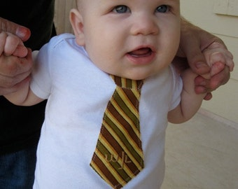 Boy's Embroidered Tie Infant Bodysuit or TShirt