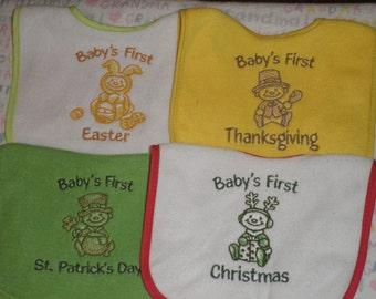 Baby's First.....Bib Set of 4