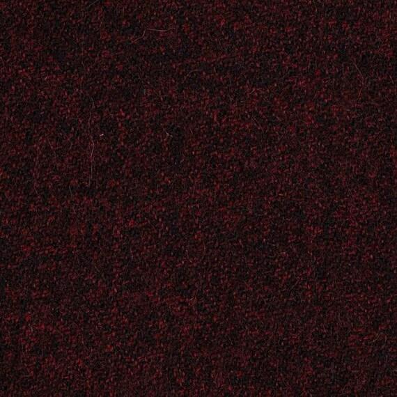 Burgundy black tweed100% WOOL fabric - 4 YDS