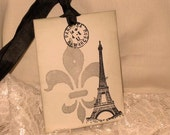 Vintage Inspired Double Image illusion Eiffel Tower Gift Tags Wish Tree Tags ECS