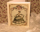 Vintage French Design Handmade Journal Cahier Adormed with Bling on Parchment ECS