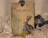 French Market Vintage Style Marie Antoinette Glittered Gift Tags Versailles ECS