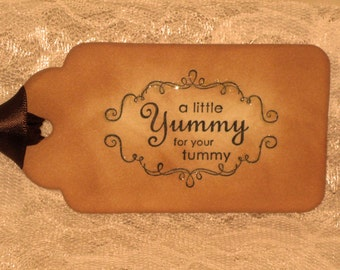 Vintage Inspired  A Little Yummy for you Tummy Gift  Tag  ECS