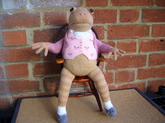 Hand Knitted Toy Beatrix Potter Jeremy Fisher from Alan Dart