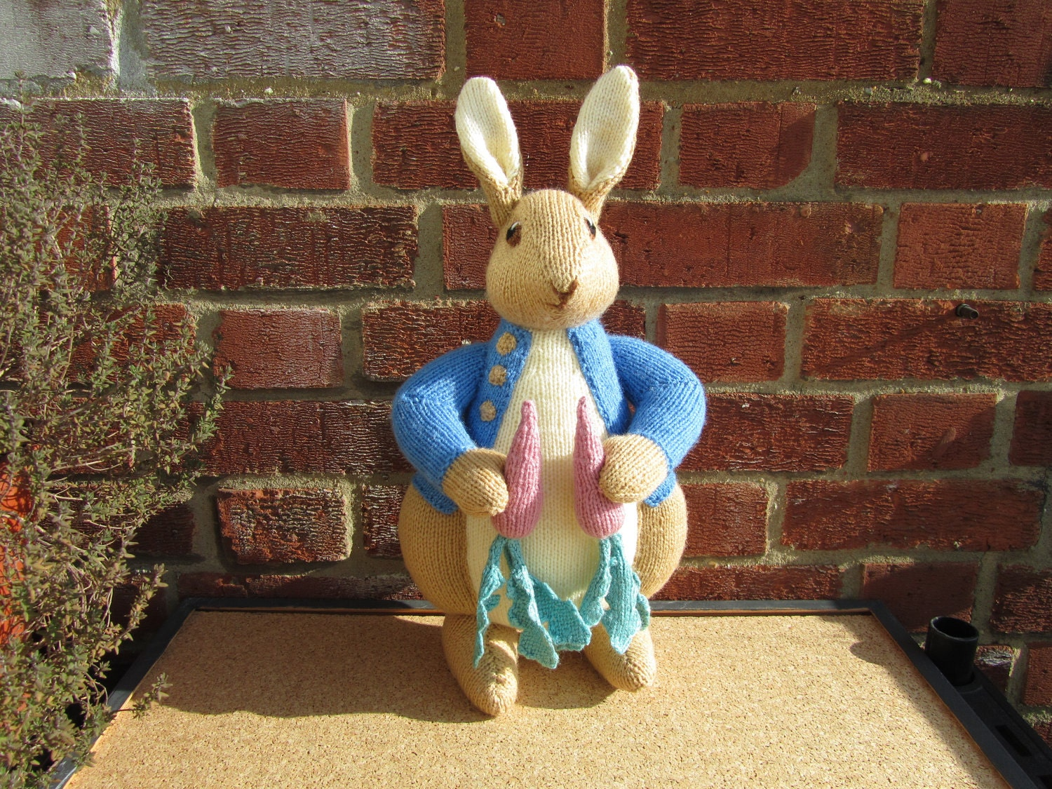 Peter Rabbit Knitting Pattern Download : Hand knitted toy beatrix potter peter rabbit from alan dart