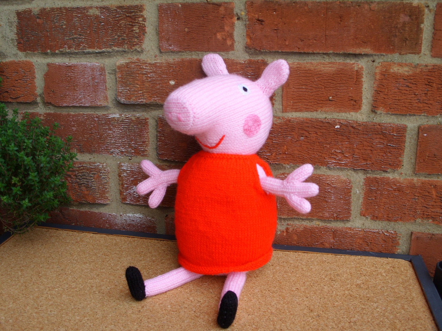 Knitting Patterns Peppa Pig Toys : Hand Knitted Toy Peppa Pig READY TO POST