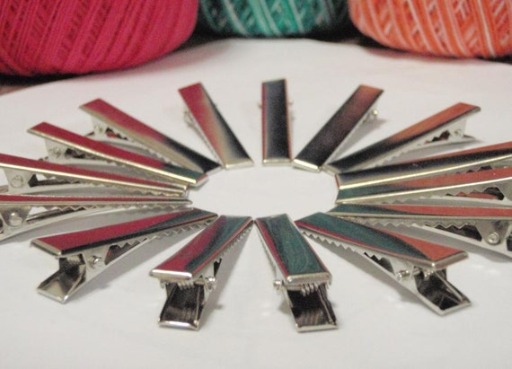 45 X 7mm Metal Hair Barrettes - 50  Pieces