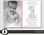Chic & Shabby Girls Birthday Party Invitations - Pink - Custom Printable