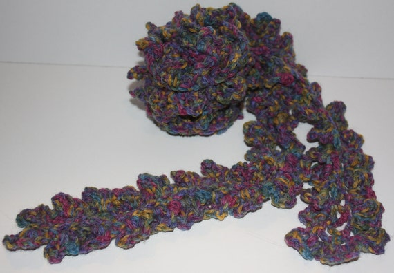 SALE Scarf or Belt, Mod, Crochet Couture Warm Fashion Accessory by theknittednest on Etsy