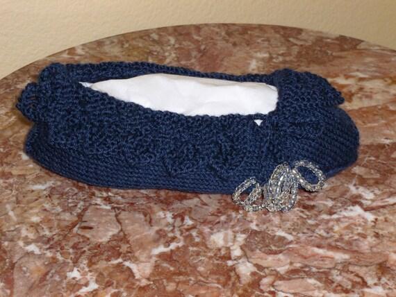Jane Austen Regency Pemberley Beaded Lace Slippers Hand Knit