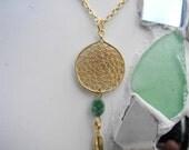Golden Dreamcatcher Necklace, Native Inspired Beauty