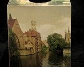 Tissue Box Cover Old World Bruges (Brugge)