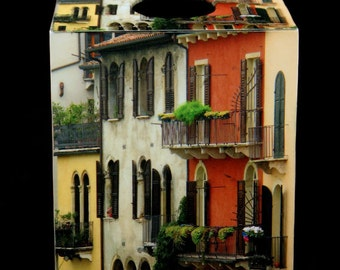 Tissue Box Cover Row of Houses in Verona
