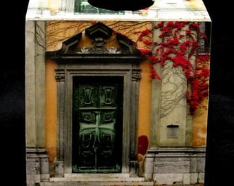Tissue Box Cover Doorway and Ivy in Ljubljana