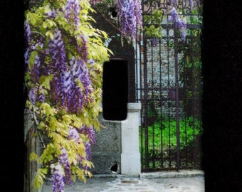 Single Switchplate Cover - Wisteria and Gate in Venice