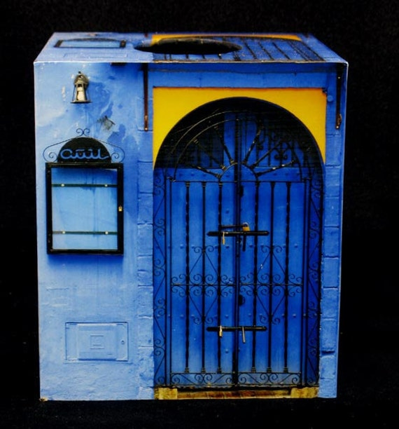 Tissue Box Cover Andalusian Blue