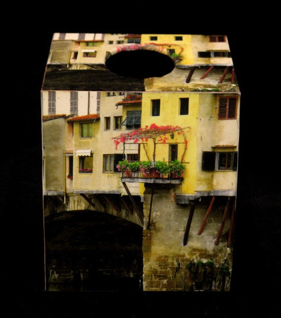 Tissue Box Cover Ponte Vecchio Balcony and Ivy